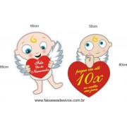 Adesivo Cupidos Dia dos Namorados 80 x 60cm