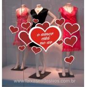 Adesivo Dia dos Namorados Corações do Amor 1,20 x 0,60m