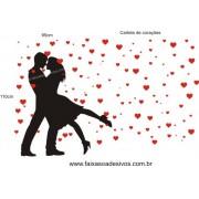 Adesivo Baila Comigo + Corações