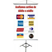 Banner Cartões de Crédito 60 x 40cm