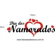 Adesivo Dia dos Namorados 2 Cores 1,00 x 0,40m
