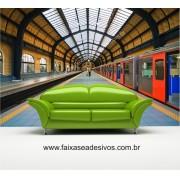 Adesivo Decorativo Estação de Trem o metro