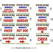 Faixa Festa Junina Barracas 1,00 x 0,70m