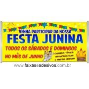 Faixa Fogueira Festa Junina  - 200x70cm