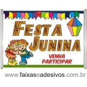 Faixa Barraca de Festa Junina 1,00 x 0,70m