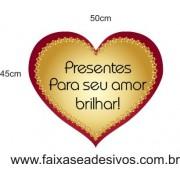 Adesivo Amor Brilhar 50 x 45cm