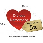 Adesivo Coração com TAG 90 x 60cm