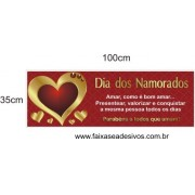 Adesivo Valorizar o Amor 1,00 x 0,35m