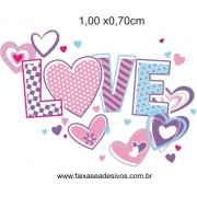 Adesivo Love Teen 80x60