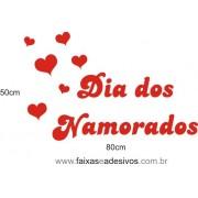 Adesivo Dia dos Namorados Tradicional 80 x 50cm