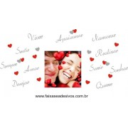 Adesivo Dia dos Namorados Texto com Foto