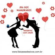 Adesivo Beijo Escondido dos Namorados 1,20 x 1,10m