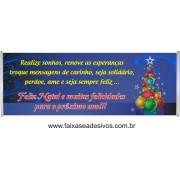 Faixa Arvore Bolas de Natal 2,50 x 0,70m