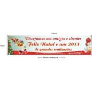 Faixa Empresa Feliz Natal 3,00 x 0,70m
