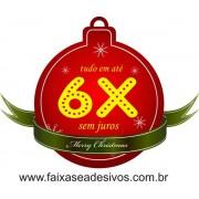 Adesivo Natal Tag Bola 6x