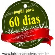 Adesivo Natal Tag Verde 10x