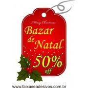 Adesivo Natal Tag Bazar