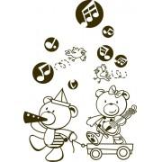 Infantil Adesivo Baby Kids Music 60x85cm