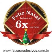Adesivo Natal Clássico Arvore 50 x 55cm