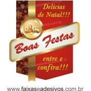 Adesivo Natal Clássico Delicias 50 x 40cm