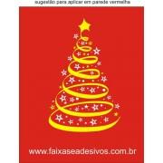Adesivo Arvore de Natal Fita (diversos tamanhos) 2531
