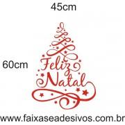 Adesivo Arvore de Natal Arabesco (diversos tamanhos) - 2525