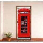Porta Personalizada e decorada CABINE - 220 x 85cm