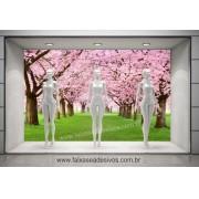Caminho das cerejeiras foto - Decorativo de Parede