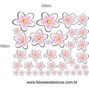 Fly Flores adesivo cartela 1,00 x 1,20cm