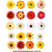 Cartela de Flores New G - adesivo com 53 flores iguais - escolha sua