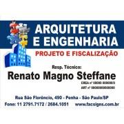 3017 - Placa PVC  - Arquitetura ou outros temas - 80x60cm - Envie arte pronta ou fazemos a arte!
