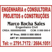 Placa PVC - Ideal para Obra ou outros temas - 50x40cm