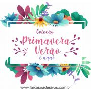 1A4918 - Adesivo Primavera-Verão - Floral Celeste