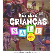 1A6990 - Dia das Crianças - Adesivo Cubo Sale