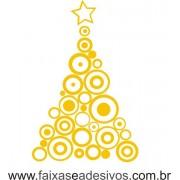 Adesivo Arvore de Natal circular - P M G - 2527
