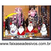 Adesivo Decorativo de Natal - P M G - Neve da Alegria