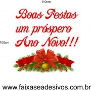 Adesivo Natal e Ano Novo 1,10 x 1,00m
