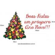 Adesivo Arvore de Natal Luz 1,20 x 0,95m + 1,00 x 0,60m