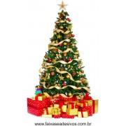 Adesivo Arvore de Natal com Caixas de Presente - 2528