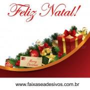 Adesivo Barrado Enfeites de Natal 1,20 x 0,70m + 1,00 x 0,25m