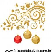 Adesivo Cantoneira de Natal Floral 1,40 x 1,40