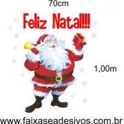 Adesivo Papai Noel Feliz 1,00 x 0,70m