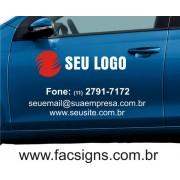 Adesivo para porta de carro 50x70cm com logo em recorte até 2 cores