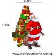 Adesivo Papai Noel Arvore de Presentes 1,35 x 1,00m