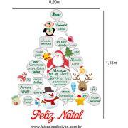 Adesivo Arvore de Natal da Amizade 1,15 x 0,90 - 2529