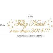 Adesivo Texto Feliz Natal 2014 - 80 x 25cm