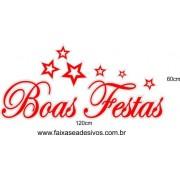 Adesivo Boas Festas Star 1,20 x 0,60m