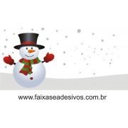 Adesivo Barrado Boneco de Neve 1,00 x 0,50m