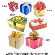 Adesivo Natal Foto Caixa de Presente 1,00 x 1,00m