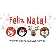 Adesivo Feliz Natal Kids P-M-G